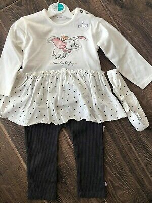 George Baby Girls Disney Dumbo 3 Piece Outfit Bnwt All Ages Top And Leggings