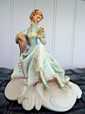 Vintage A. BORSATO Sculpture/Figurine, Hand Carved & Hand Painted