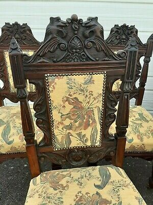 Superb Quality Set Of 6 Carved Victorian Dining Chairs