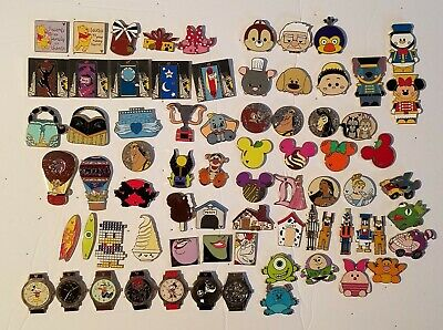 Huge Lot Of Disney Trading, Hidden Mickey, Watch set, Collectable Bag  Pins