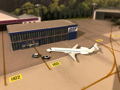 Herpa Wings 1:500 Private Terminal And Plane