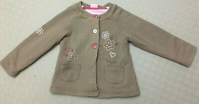 Little Girls Pretty Embroidered Jacket From Cherokee  Age 3-4 Years  Ex Cond