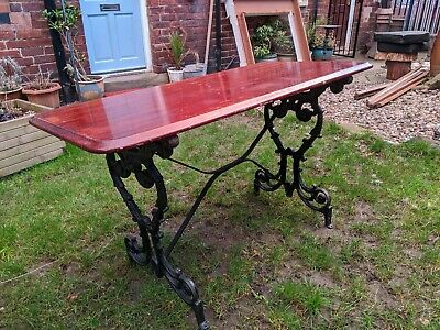 Cast Iron Pub Table - 6 available - garden Furniture - dining Table - Man Cave