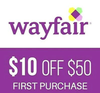 $10 off $50 Wayfair purchase for NEW Customers--FAST Online Delivery!