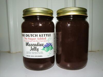Dutch Kettle All Natural Homemade No Sugar Added Muscadine Jelly 19 oz