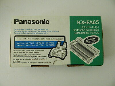 Panasonic KX-FA65 Genuine Black Film Cartridge 100 Meter New