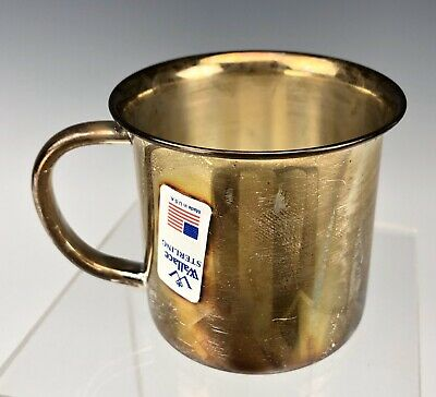 Wallace Sterling Silver 925 Baby Cup With Box 46.8 Grams NOS