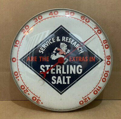 Vintage Sterling Salt Thermometer Service And Research Wall Decor Sign
