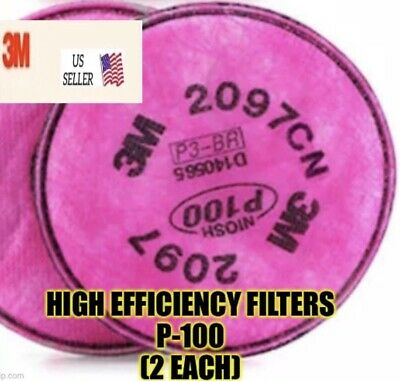 3m 2097 Respirator Filter For Any 6000 And 7000 Series