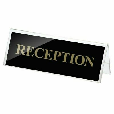 """OfficemateOIC Plastic Desktop Name Holder, 3 5/8"""" x 11"""", Clear"""