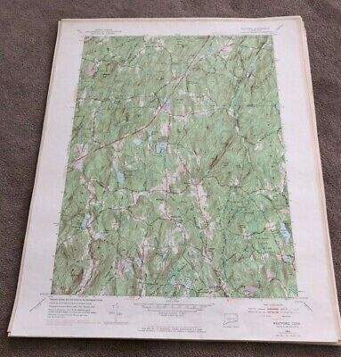 1970 Westford Connecticut Geological Map