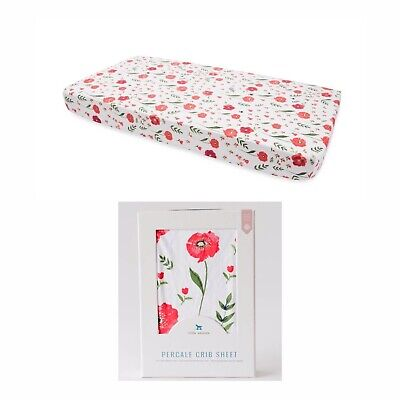 PerCale Crib Sheet in Summer Poppy by Little Unicorn New