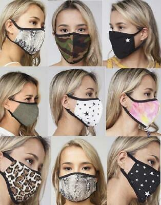 Face Masks Double Layer Mouth Coverage Protection  Reusable Washable Fabric Mask
