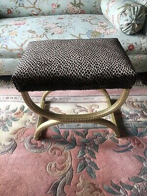 Vintage Distinctive Animal Design Velvet Stool.