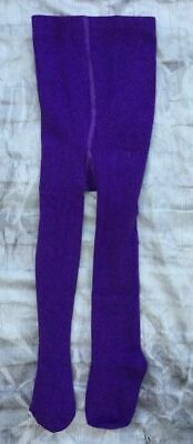 YOUNG GIRLS AGE 3-4 YRS (98CM-104CMcm) THICK WARM COTTON RICH TIGHTS PURPLE NEW