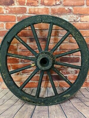 Antique Vintage old wooden wheel cart carriage wagon Cart wheel - very rustic