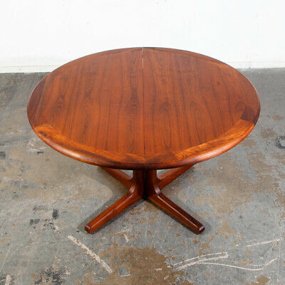 Mid Century Modern Dining Table Glenn of California Solid Walnut Round Danish NM