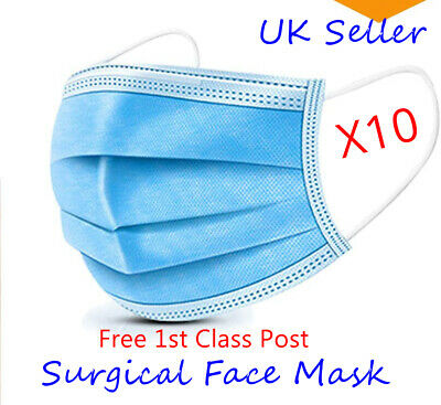 Surgical  - Type IIR  UK, medical grade CE UK Seller 1st Class Free Post
