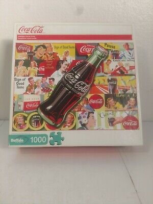 Buffalo Games 1000pc Always Coca Cola Puzzle 2013 Complete w/ Poster