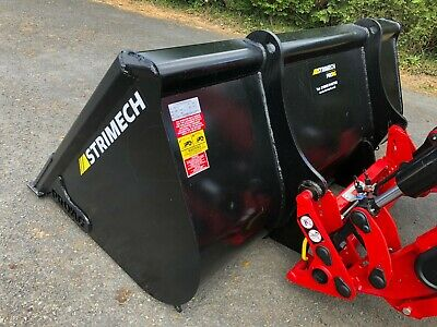 strimech loader bucket c/w euro 8 brackets 7ft