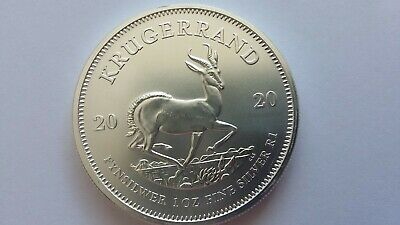 2020 1 oz silver Krugerrand South African bullion coin - uncirculated