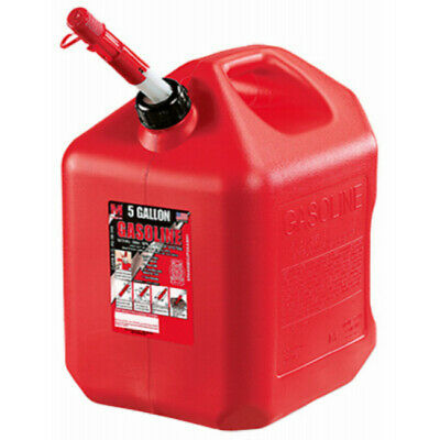Midwest Can 5610 Portable High Density Polyethylene Gas Can, Red, 5 Gallon