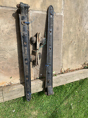 Charles Collinge Lamberth 2 Foot Strap Hinges. 2 Complete Sets.