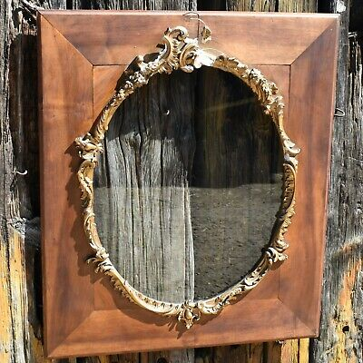 Antique French Louis XV Gilt Edged Decorative Frame Picture Fruitwood Large