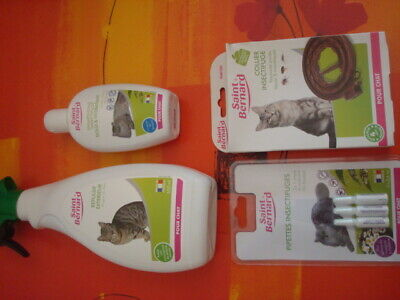 Divers produits insectifuges , pipettes, shampoing chats