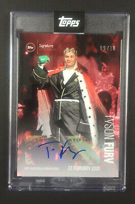 2020 Topps Tyson Fury Signature Performance Autogramm Karte- Red Collection 9/10