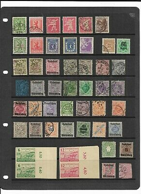 German States & Territories stamps on A4 stockcard
