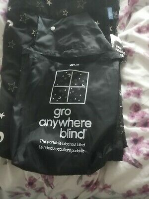 The Gro Company Anywhere Portable Blackout Blind With Suction Cups & velcro