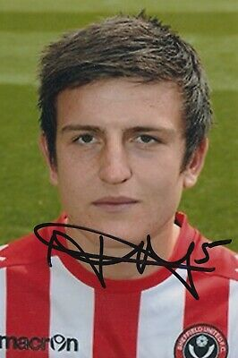 Harry Maguire Hand Signed 6X4 Photo - Football Autograph - Sheffield United.