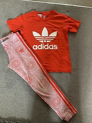 Girls Adidas Top And Leggings age 8-10