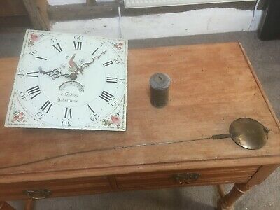 Georgian Longcase grandfather clock movement Fileders Atherstone 1790s onwards
