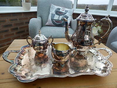 F.B ROGERS SILVER PLATED Coffee/Tea SET (4 pieces)