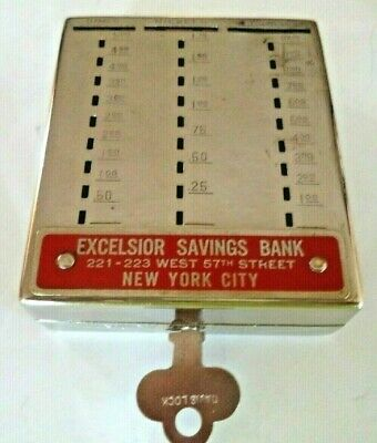 Bankers Utilities Co. 3 Slot Bank Excelsior Savings New York City One Key