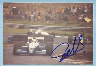 YVAN MULLER HAND-SIGNED 1993 F3000 ACTION PHOTO - 1990's > BTCC, WTCC CHAMPION
