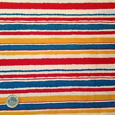 1930s 1970 Vintage Liberty Stripe Cotton Summer Beach sewing patch craft fabric