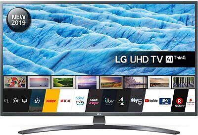 "LG 43UM7400PLB (2019) LED HDR 4K Ultra HD Smart TV, 43"" with Freeview Play/Frees"
