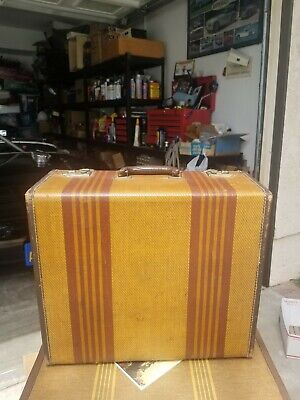 21'' Suitcase With STRIPES...CIRCA 1940