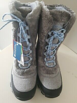 Mountain Warehouse Ohio Women's Snow Boots Fur Thermal Isodry Size 8