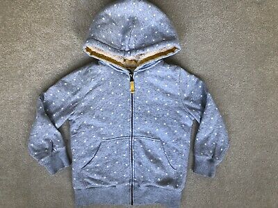Mini Boden Girls Shaggy Lined Hoodie, Grey Stars, Age 7-8
