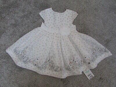 BNWT NEW George baby girls 0-3 months Disney 101 dalmations summer dress £10