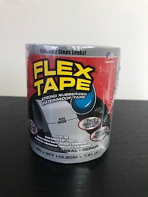 FLEX TAPE Strong Rubberized Waterproof Tape Gray 4in x 5ft