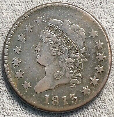 1813 Classic Head Large Cent. S-293.