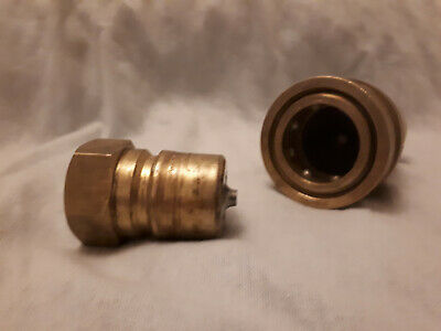 Quality Brass Hydraulic Quick Connect Coupling MALE AND FEMALE - 3/4 in