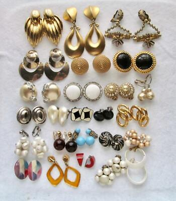 Vintage to Now Lot of 25 Clip Earrings #80-8
