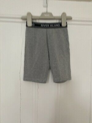 Girls Grey Cycling Shorts From River Island Age 7-8 Years