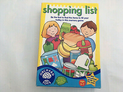 Orchard Toys Shopping List Game. Complete Instruction
